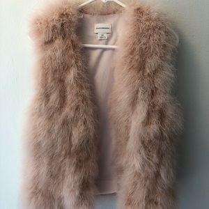 Club Monaco pink feather vest